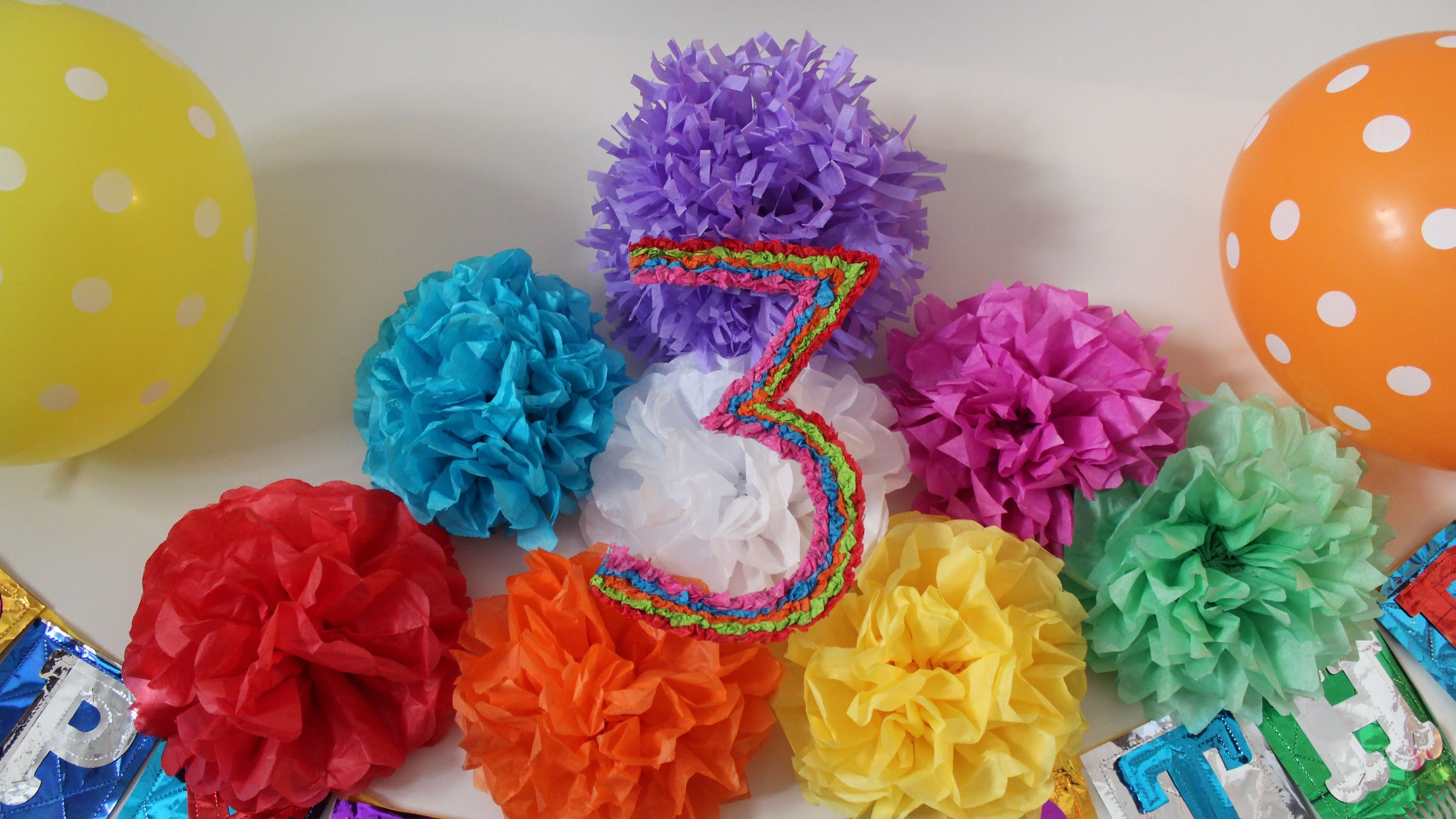 How to make Tissue Paper flower | Arts & Crafts | Decoration