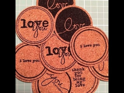 How to make your own cork scrapbook embellishments!