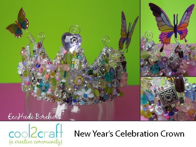 How to Transform a Dollar Store Crown into a New Years Crown by Heidi Borchers