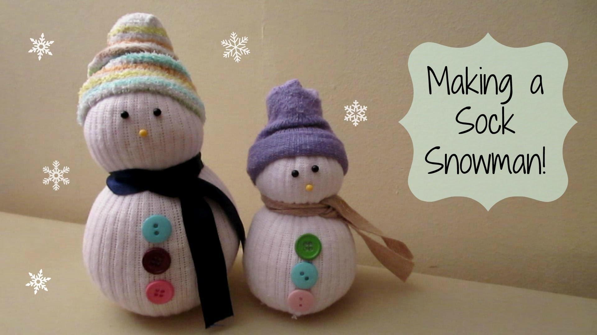 MAKING A SOCK SNOWMAN! Cute Winter Craft | MayMommy2011