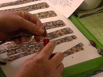 Making Advanced Paper Beads With Template A-1 Session 1