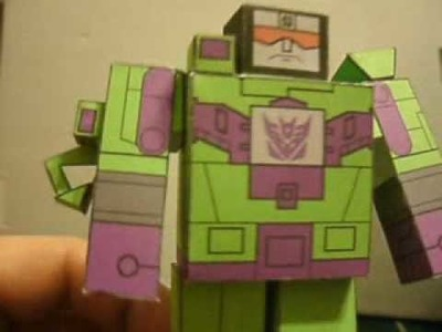 MINI G1 Papercraft Cartoon Devastator Haku