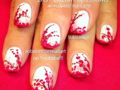 Nail Art Tutorial | Easy Cherry Blossom Nail Art Design for beginners