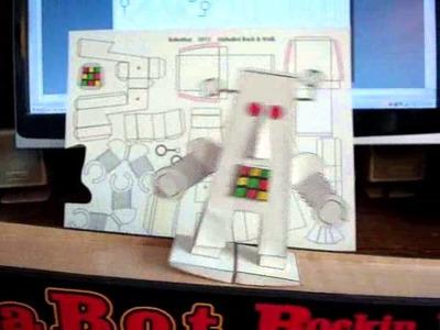 Paper craft Ramp walking Robot
