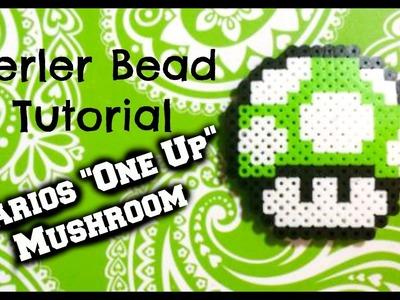 "Perler Bead Tutorial: Mario's ""One Up"" Mushroom"