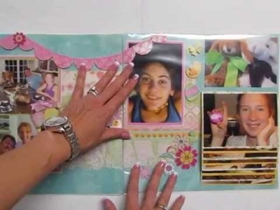 Power Scrapbooking Layouts Video 15: 12x24 Interactive Easter Layout