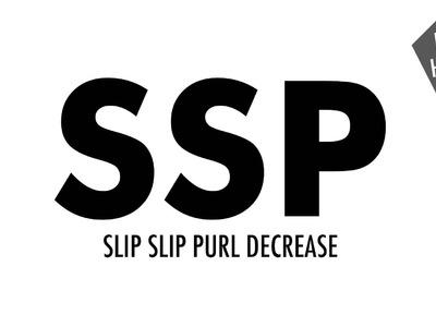 Slip Slip Purl Decrease (SSP):: Knitting Decrease :: Right Handed