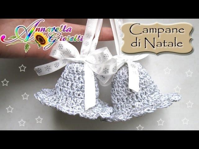Tutorial Campane di Natale all'uncinetto   How to crochet bells