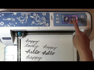Using the Brother ScanNCut with Your Own Handwriting