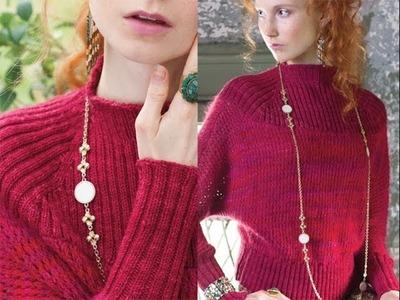 #10 Ribbed Yoke Pullover, Vogue Knitting Winter 2013.14