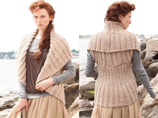 #13 Welted Circle Vest, Vogue Knitting Holiday 2010