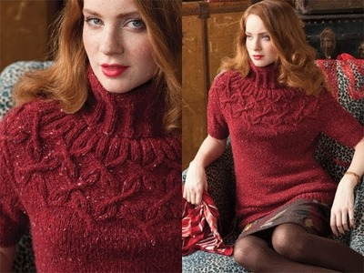 #8 Cable Yoke Pullover, Vogue Knitting Holiday 2010