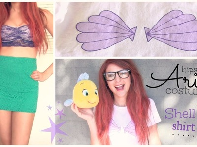 ARIEL Disney Princess Costume - Hipster - Shell Bra Shirt DIY