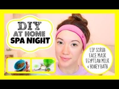 At Home Spa Night + Microdermabrasion! DIY Lip Scrub, Face Mask & Milk Bath Recipes! | Blair Fowler
