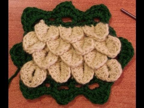 Bordare il punto coccodrillo all'uncinetto - Tutorial Crochet