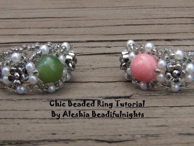 Chic Beaded Ring Tutorial