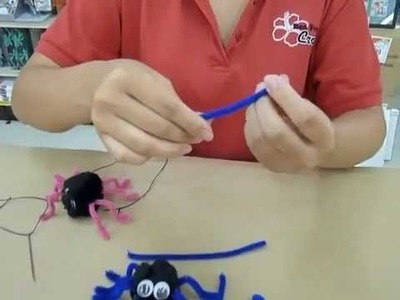 Crankin' Out Crafts -ep9 Halloween Bouncy Spider