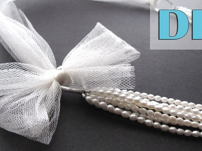 DIY Bridal Jewelry Tutorial - Multistrand Pearls Bridal Statement Necklace - 3 Ways!