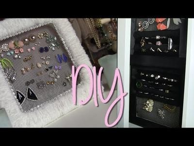 DIY Cute Earring & Ring Holder