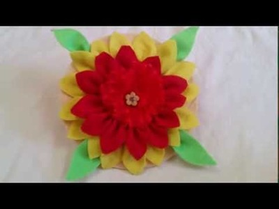 DIY Flower Decor ✿ How to make a Colorfull Cloth flower ✿ Innovative arts
