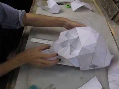 DIY FOLDING PAPER SKULL SkullsForChange