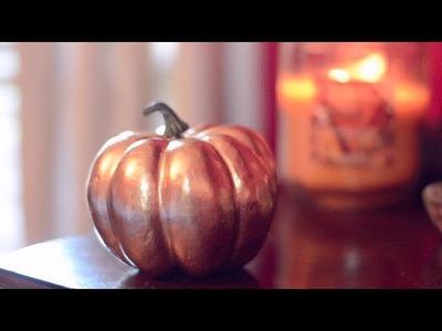 DIY Gold Metallic Pumpkins! | Simple Fall