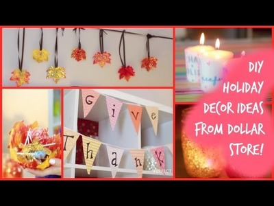DIY HOLIDAY DECORATIONS FROM THE DOLLAR STORE!!! (under $1)
