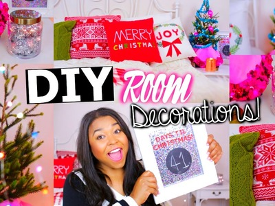 DIY Holiday Room Decorations! Easy TUMBLR CHRISTMAS ROOM