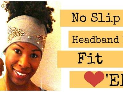 DIY I No-Slip Fitness Headband Ft. Cat Ears!