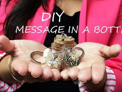 DIY Message in a bottle Keychain