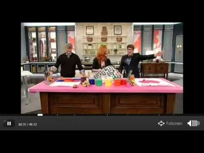 DIY Painted Totes on the S+C Show
