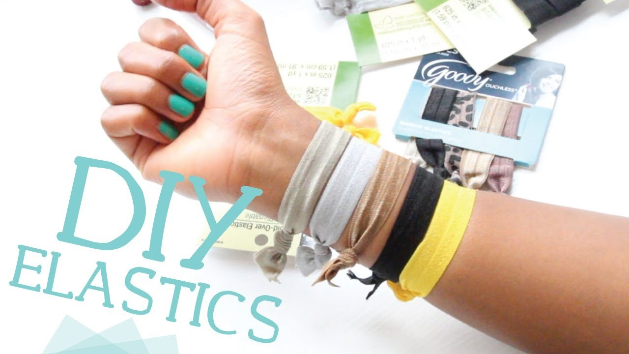 DIY Ribbon Elastic Hair Ties w. Fold Over Elastic!