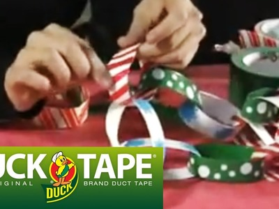 Duck Tape Crafts: How to Make a Christmas Chain