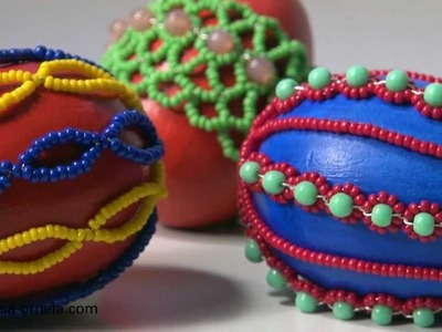 EASTER EGGS with PRECIOSA seed beads