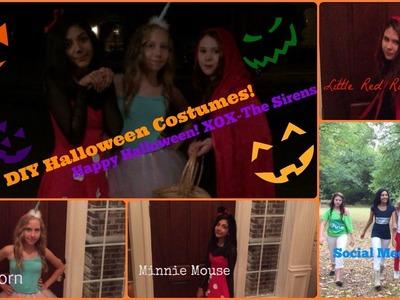 Easy DIY Halloween Costumes+Makeup!! 2014