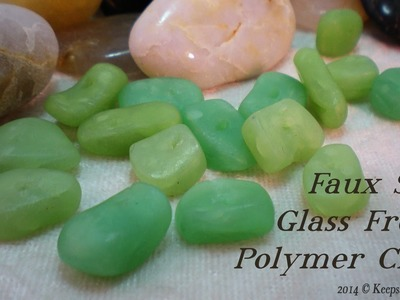 Faux Sea Glass Beads -Polymer Clay Tutorial