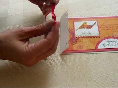 Flat Ribbon Trick for Card Making