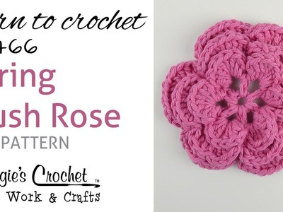 FP466 Spring Blush Rose - FREE PATTERN - Right Handed