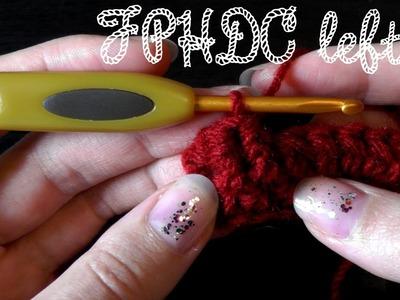 Front post half double crochet - Lefty crochet basics