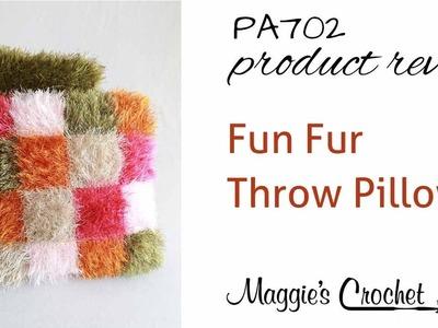 Fun Fur Throw Pillows Crochet Pattern Product Review PA702