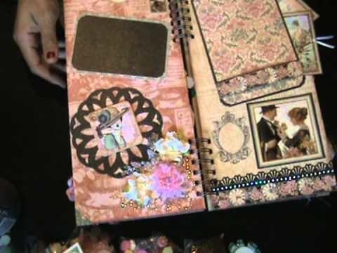 G45 A Ladies Diary 6x12 scrapbook mini album sold