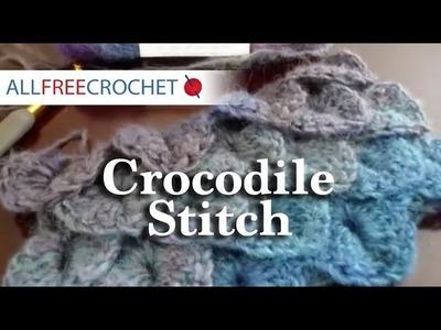 How To Crochet the Crocodile Stitch