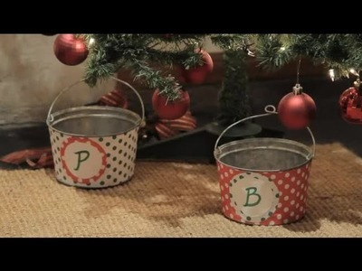 How to decorate plant pots for Christmas : Christmas crafts for the whole family