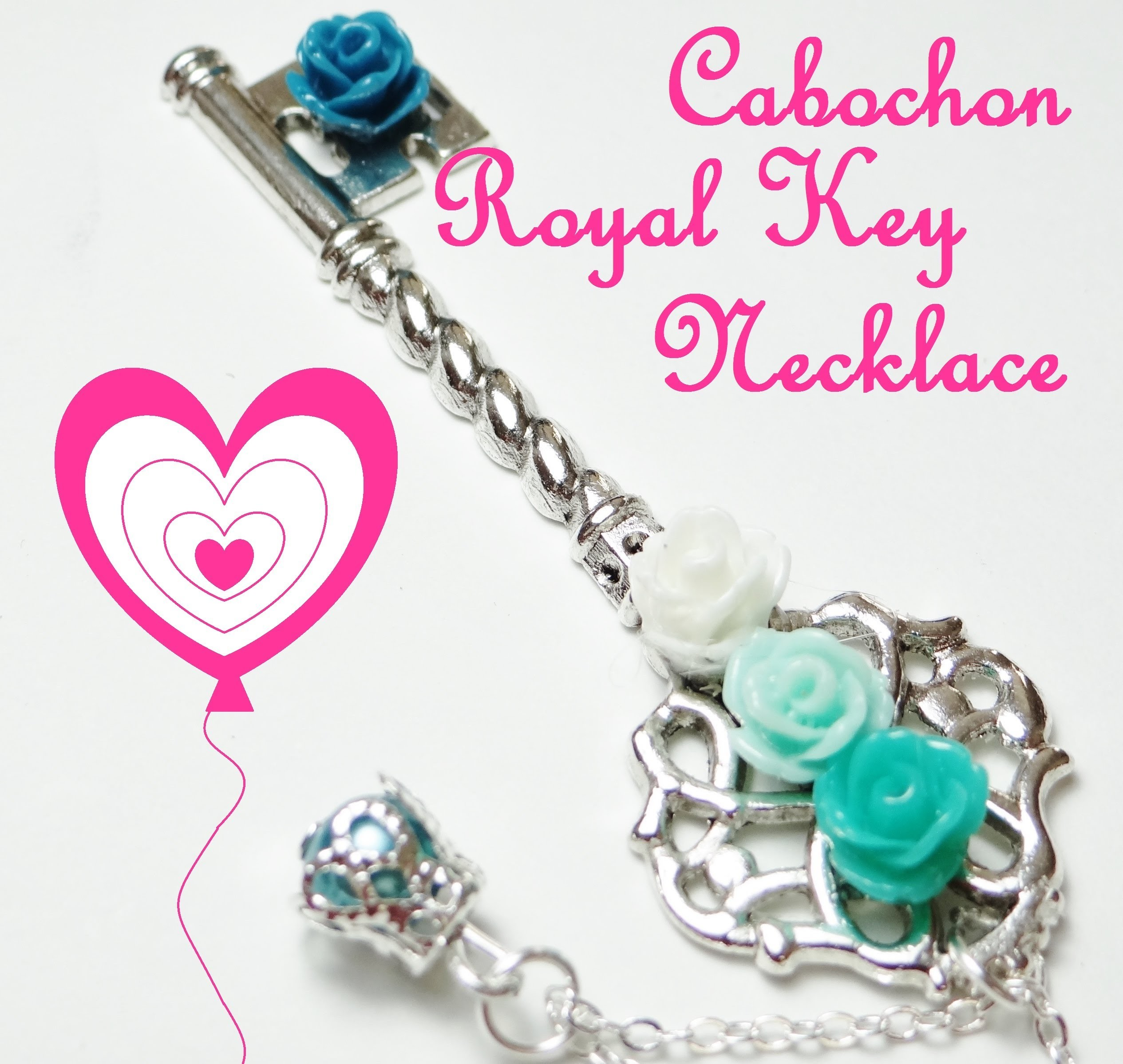 How To DIY - Cabochon Royal Key Necklace Tutorial