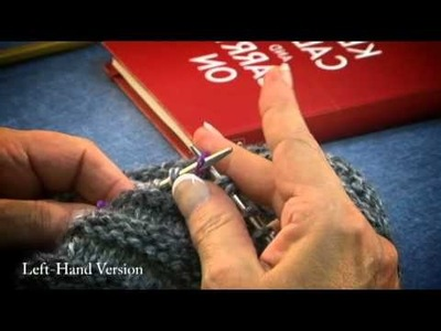 How To Knit A Hat Step 6 -LEFT HAND VERSION - Intermediate.Advanced