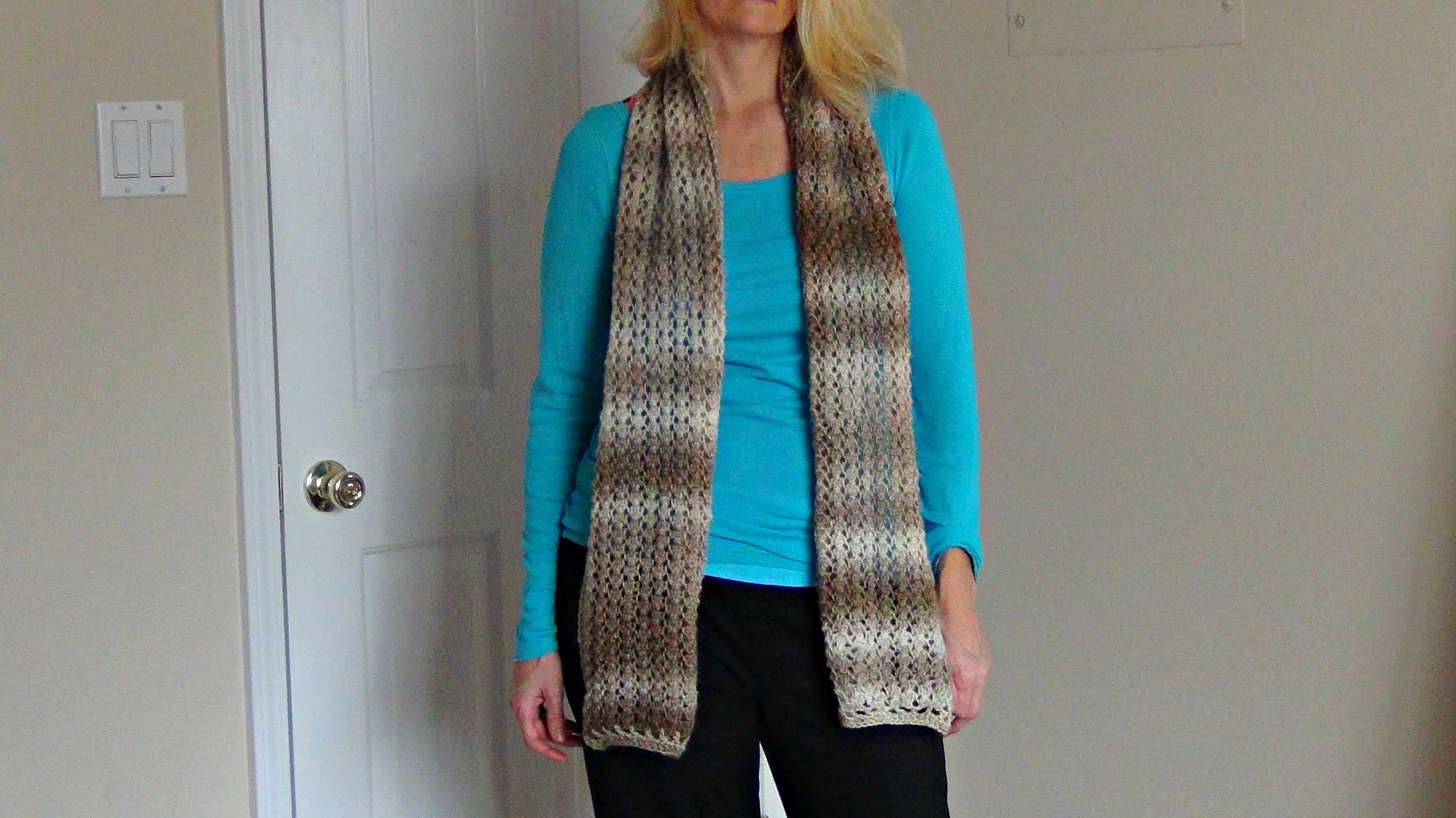 How to Knit a Lacy Scarf with a Crocheted Border