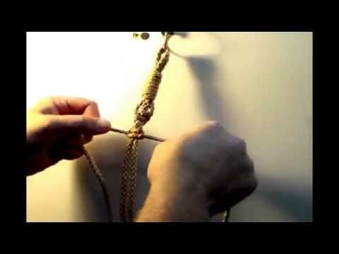 How to Macrame a Half Knot Sinnet or Twist used in crafting Macrame plant hangers