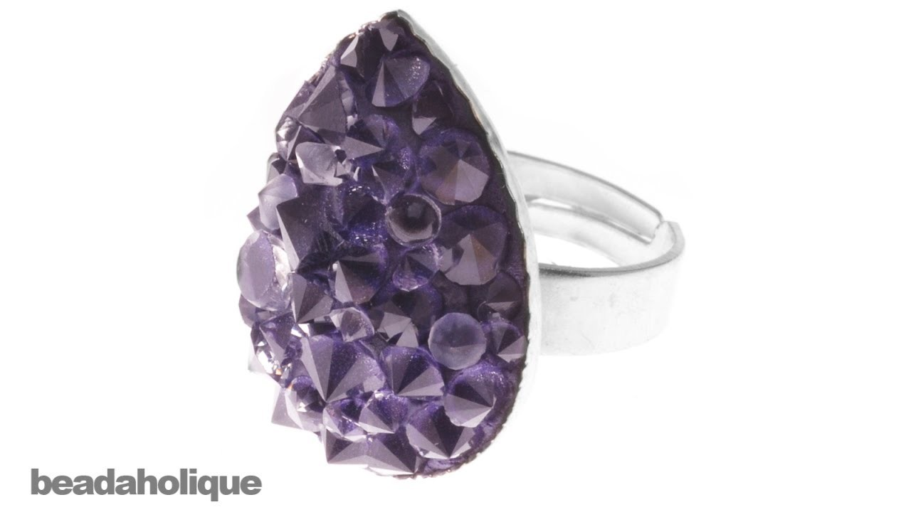 How to Make a Faux Druzy Ring