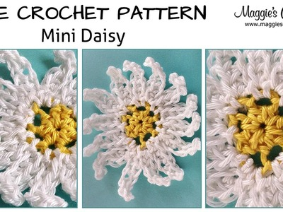 Mini Daisy Free Crochet Pattern - Right Handed