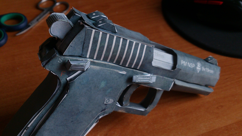 My First Papercraft Pistol-PM NSP V2 (Speedart+Presentation) DOWNLOAD